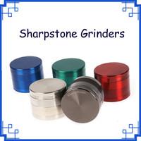 100%Original Sharpstone Grinders 4 Pieces Tabacco Herb Grinder Grinders Zinc Alloy Magnet Top inside Shovel 6 Colors OEM Available DHL free