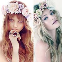 Бохо Цветок Корона Фестиваль Оголовье Свадебные Гирлянды Цветочные Hairband Аксессуары #R4