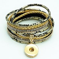 Fashion SE0183 Serpentine pattern leather bracelets Multi- la...