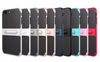 المسافر الهاتف المحمول قذيفة ألياف الكربون الدعامات 2 في 1 غطاء حماية سقوط آيفون 5 / 5S 5SE 6 / 6S 6plus / 6Splus 7 7plus Samsung S6 S7 edge