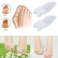 High Quality 2pcs Silicone Gel Foot Pad Stretch Corrector Al...
