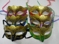 Coloured drawing spray paint Mask Venetian Halloween masks P...