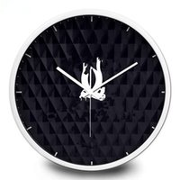 New! Classic pattern wall clock Metal frame with famous logo...