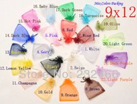 Wholesale- Free Shipping, Drawable Organza Bags 9x12 cm, Weddin...