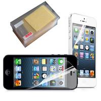 Ultra-mince téléphone portable Clear Film Protecteurs Film Anti-Glar Anti-Rayures Pour iPhone X 8 7 6 6s plus 5S Dustproof Film Dos Avant