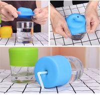누출 탄력 실리콘 밀짚 컵 커버 30oz 20oz RTI 컵 교환 방지 컵 커버 뚜껑 컵 보호