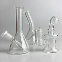 New 10mm 14mm Female Mini Glass Bong Water Pipes Pyrex Oil R...