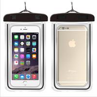 Yüksek Kalite Yeni aydınlık floresan dokunmatik ekran su geçirmez telefon kapak iphone 7 6 6 s artı samsung su geçirmez telefon kılıfı