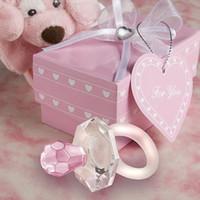 Coleção de cristal Garrafa Mamilo Anel Chave Figurines Favores Do Casamento Presentes de Festa de Aniversário Centrais Acessórios Do Chuveiro Do Bebê Decoração de Casa
