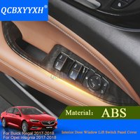QCBXYYXH 4 unids Car-styling Para Buick Regal Opel Insignia 2017 2018 Ventana Interior Puerta Interruptor Panel Interruptor de Ajuste de la Decoración