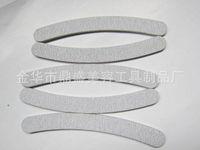 Großhandel-10 x grau Nagelfeilen Schleifen 180/180 Kurve Banane für Nail Art Tipps Maniküre Freies Verschiffen (17,8 * 2 * 0,4 cm)