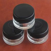5 ML Transparente Recipiente De Vidro Temperado Nnbreakable Dab Jar Cera Concentrado De Óleo Caixa de Cera para Dab Dab bho Caso de Silicone de Armazenamento De Cosméticos