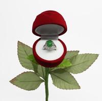 Cadeaux Valentin Day Cadeaux Rose Rose Bague Boîte Cadeau Boîte Pour Bague Boucle d'oreilles Romantique Engagement Bague Bague