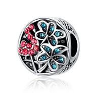 Losse kralen voor sieraden maken metalen diy tropische flamingo zilverkleurige charmes past Europese sieraden armbanden ketting kerstcadeau