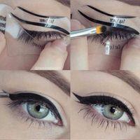Güzellik Kedi Eyeliner Modelleri Smokey Eye Elek Şablon Shaper Eyeliner Makyaj Aracı Ücretsiz Kargo 220pcs