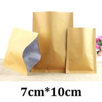 7 cm * 10 cm 7 x 10 carta kw brwon laminato laminato per alimenti sacchetto per imballaggio sottovuoto