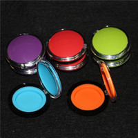 Hot Non- stick oil silicone container clear 6ml plastic dab w...