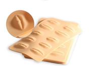 10 Pcs Suave Pele Real Maquiagem Silicone Permanente Maquiagem 3D Lábio Prática Pele 24 * 14.5 cm