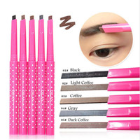 Wholesale- 1 Pcs Natural Waterproof Longlasting Shadow Eyebrow Pencil Kit Eye Brow Pen Make Up Liner Poudre Shaper Maquillage cosmétique