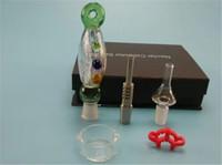 Mini Nectar Collector Kit avec 14 19mm Titanium Nail Pointe De Quartz Plastique Keck Clip Mini Pipes De Verre verre bong Smoking Pipes by DHL