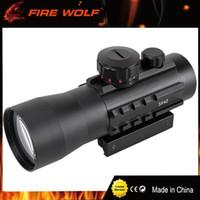 FIRE WOLF 3x42 11mm / 20mm Montajes de riel Visor telescópico táctico Alcance Holográfico Verde / Rojo Punto Telescópico óptico