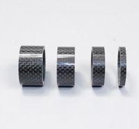 4pcs Boîtier de charbon en carbone SPACER Joint de fibre de carbone 1-1 / 8