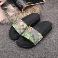 Entrega rápida para hombre sandalias de tigre impresión de tigre y flores de cuero para mujer zapatillas de marca suave y barata