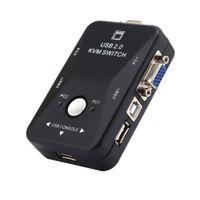 Freeshipping neue 2 Port VGA USB KVM Switch Splitter Auto Controller Tastatur Maus Drucker bis zu 1920 * 1440