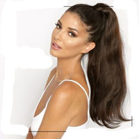 Wholesale sleek hair extensions buy cheap sleek hair extensions beauty long human hair ponytail extensions 160g sleek natural straight dark brown wrap around pony tail clip in brazilian virgin hair pmusecretfo Gallery