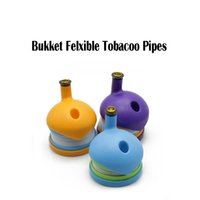 New Bukket Stretch Flexible Plastic Smoking Pipe Tobacco Pip...