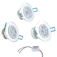 Regulable X3 techo LED Focos del punto de 3W 4W 5W 7W 9W 12W 15W empotrada LED Focos de luz LED abajo se enciende lámparas AC110-240V