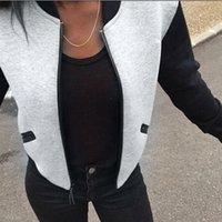 Женщины Базовые пальто вязаный свитер Кардиган бомбардировщик куртка с длинным рукавом стенд воротник пуловер топы куртка короткая пальто варенье Chaqueas Mujer