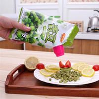 Gießen Food Food Aufbewahrungstasche Clip Snack-Abdichtung Frische Haltung Sealer-Klemme Kunststoff Helfer Food Saver Reise Küche Gadget ZA3128