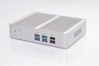 Freeshipping بدون مروحة Intel N3150 Mini PC Celeron رباعية النواة 1.6 ~ 2.08 جيجا هرتز ويندوز 10 مصغرة الكمبيوتر المزدوج H-DM-I WIFI مربع تلفزيون LAN المزدوج