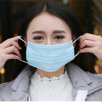 50pcs lot Disposable masks outdoor dust mask on three floors...