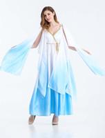 مثير ازياء النساء الالهة اليونانية رائع لونغ ملابس تنكرية هالوين الحزب أثينا تأثيري اللباس الأبيض الفنتازيا رداء