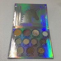 На складе Unicon блеск глаз палитра теней для век 11 цветов макияж тени для век палитра блеск DHL доставка
