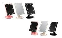Yeni 360 Derece Rotasyon Dokunmatik Ekran Makyaj Aynası Kozmetik Katlanır Taşınabilir Kompakt Cep Ile 16/22 LED Işıkları Makyaj Aracı