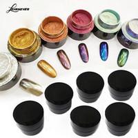Yeni Geliş 5g Nail Glitter Toz Bling Ayna Shinning Göz Farı Makyaj Toz Toz Nail Art DIY Pigment simleri