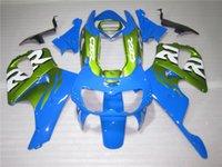 Bodywork Fairing Kit för Honda CBR 900RR 1996 1997 Green Blue Fairings Set för CBR900RR 96 97 OT11