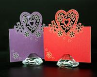 10 Sztuk Crystal Diament Nazwa Numer Menu Tabela Place Uchwyt Karty Wedding Party Reception Favor
