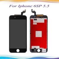 Alta qualidade display lcd para o iphone 6 s plus 5.5 polegada 6sp tela de toque digitador assembléia completa substituição com 3d toque livre
