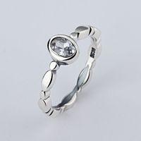 Una venta al por mayor simple boutique rings 925 Silver Signature Ring Fit Pandora Cubic Zirconia Aniversario Joyería para mujeres regalo de Navidad