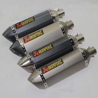 38 مم -51 مم Akrapovic الفولاذ المقاوم للصدأ دراجة نارية نظام العادم كاتم الصوت العادم مع DB القاتل سكوتر تعديل