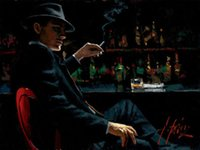 Framed Fabian Perez Whiskey At Las Brujas V Handpainted Impr...