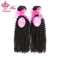 """Queen Hair Mix Länge 2pcs 12 """"-28"""" Dhl-freies Verschiffen brasilianische reine verworrene lockige menschliche remy Haarwebarterweiterungen"""