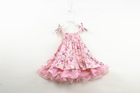 2018 New Baby Girl Dresses Kids Cute Floral Suspender Tulle ...