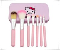 Newest Hello Kitty Makeup Brush 7pcs set Mini Makeup Brushes...