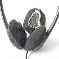Massenmenge Schwarzes nichtgewebtes gesundheitliches Kopfhörer-Abdeckungs-Wegwerfvlies 6-7cm Kopfhörer-Hörmuschel-Abdeckungen 5000pcs / lot