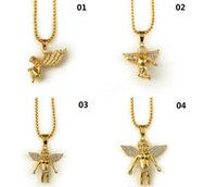 Popcorn Chain 2017 New 18K Gold Plated Boy Angel & Girl Ange...